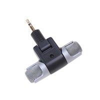 microfone condensador estéreo mini venda por atacado-3.5mm Mini Microfone para Condensadores de Eletreto ECM-DS70P Microfone Estéreo Sem Fio Para Câmeras PC MD