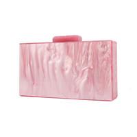 Wholesale made pearls bag for sale - Group buy Telastar Women Bags Acrylic Bag Pearl Pink Make Up Box Mirror Inside Evening Handbag Acrylic Clutch Bag Luxury Designer Brand