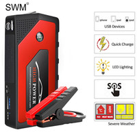 Wholesale multi function jump starter emergency resale online - Swm Car Auto Starting Device Jump Starter Multi Function Car Emergency Led Jump Starter Power Bank mah Charger