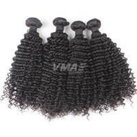 kinky kıvırcık insan saçları satılık toptan satış-Satışa Brezilyalı Örgü Saç 3 Adet Çok Işlenmemiş Demetleri Bakire İnsan Saç Uzantıları Doğal Siyah Sapıkça Kıvırcık Saç VMAE