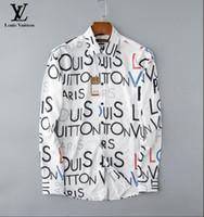 chemises à manches longues à la mode achat en gros de-Les hommes de gros d'automne et d'hiver portent des chemises à manches longues POLO shirt décontracté pour hommes à la mode Oxford shirt vêtements de marque sociale # 6000