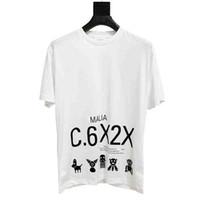 sıcak baskı makinesi toptan satış-TS Makinesi Yavru Hattı Baskı Tee Sokak Moda Sıcak Satış Erkek Tasarımcı T Shirt Womens Çiftler Yuvarlak Boyun Beyaz Pamuklu Gömlek TSYSTX101