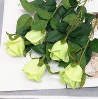ingrosso fiore di salotto di plastica-fiore artificiale decorazione domestica fiore singolo rosa matrimonio soggiorno decorazione plastica fiori secchi Fiore finto