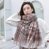 Wholesale autumn color scarves for sale - Group buy New imitation cashmere color ladies scarf European and American fashion autumn and winter warm scarf shawl