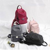 Wholesale backpacks for womens resale online - 2020 Fashion Oxford Womens Backpack Solid Color School Bag For Teenage Girl Big Capacity Travel Bag For Female Children Daypack