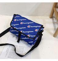 Wholesale waterproof tablet bags resale online - Unisex Champions Letter Messenger Bag with Retail Tag Belt Waist Fanny Packs School Laptop Tablet Bags Waterproof Beach Sports Totes C491