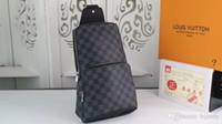 sac à bandoulière homme noir achat en gros de-2019 nouveau plaid noir AV. SAC À MAIN D.GRAP. N41719 sac de voyage HOMMES bandoulière poitrine bandoulière N41612 Sac en cuir véritable pour la poitrine N41712