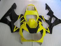 honda cbr 929 rr fairing siyah toptan satış-HONDA CBR900RR 00 01 CBR 900 RR CBR 900RR 929 2000 2001 Enjeksiyon kaporta gövdesi kiti Sarı siyah kaporta seti