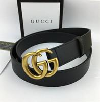 nouveau cadeau en laiton achat en gros de-2020 livraison gratuite vente chaude hommes femmes ceinture noire en cuir véritable lettre ceintures en laiton ceinture pour cadeau top vendeur y compris les boîtes
