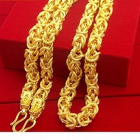 Wholesale mens chunky chain necklace for sale - Group buy Necklace Boys Mens Chain Necklace Gold Filled Hip Hop Heavy Thick Twisted Chunky Choker Necklace Fashion Jewelry Inches J190526