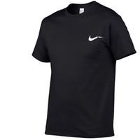 homens da camisa da marca do desenhador venda por atacado-2018 verão dos homens T-shirt sports fashion casual preto branco azul cinza em torno do pescoço T-shirt designer de impressão do logotipo da marca hip-hop tops