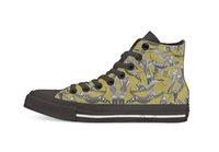плоская обувь для кошек оптовых-кошка партия охра желтый новинка дизайн высокий верхний холст пользовательские туфли плоские Повседневная обувь