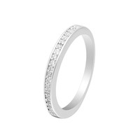 Wholesale simple engagement ring designs resale online - HAINON engagement rings for women Shiny white zircon Simple design romantic jewelry Best gift girlfriend birthday rings