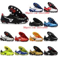 nouvelles chaussures de football d'arrivée achat en gros de-2018 chaussures de football en cuir bon marché à l'arrivée de chaussures basses Morelia Neo II FG pour hommes, chaussures de football en plein air