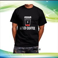 café bajo al por mayor-Camiseta Low Battery Need Coffee para hombre, tamaño negro S-3xl
