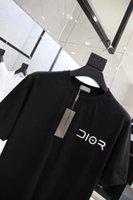 t shirt ön kısa toptan satış-Hajime Sor 2019 Avrupa popüler logo yaz yeni T gömlek yuvarlak yaka ve kısa kollu gümüş harflerle ön erkekler ve kadınlar için