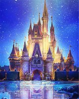 Wholesale abstract art paintings scenery for sale - Group buy 5D Diamond embroidery scenery castle light diamond painting cross stitch full round square diamond mosaic home decor art craft gift BB0197