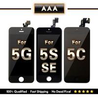 iphone 5 lcd screen оптовых-ЖК-дисплей для iPhone 5 5S 5C SE дисплей с сенсорным экраном дигитайзер класса AAA черный белый Бесплатная доставка DHL