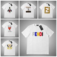 marcas de ropa para hombre de mayor calidad al por mayor-Alta calidad de la nueva marca de ropa del diseñador del Mens Camisetas con cuello redondo de la manga corta para mujer T Shirts Mujer Camiseta de impresión de algodón # 5615265