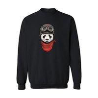camisolas de panda hoodies venda por atacado-Panda Design Mens Manga Longa Hoodies Hoodies Dos Homens de Hip Hop e Harajuku Camisola Dos Homens XXL