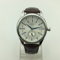 relojes con cinturón para hombre al por mayor-Dropshipping de lujo 40 mm pequeño tres agujas correa de cuero de cuarzo para hombre relojes de oro analógico hombres diseñador reloj al por mayor regalos de los hombres reloj de pulsera