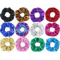 yeni lastik saç bağları toptan satış-13 Renk Kadın Kızlar Bronzlaştırıcı Scrunchies Elastik Yüzük Saç Kravatlar Aksesuarları At Kuyruğu Tutucu Hairbands Lastik Bant Scrunchies 2019 YENI VARıŞ