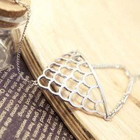 Wholesale hollow ring bracelet resale online - Women Punk Rock Retro Hollow Fish Scales Wrist Finger Ring Harness Hand Chain Bracelet Jewelry XRQ88