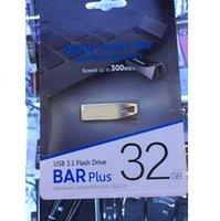 kalem sürücü markaları toptan satış-100% Marka Yeni Bar Artı 32 GB 64 GB 128 GB USB 2.0 USB Flash Sürücüler Kalem Sürücü metal yüksek hızlı usb flash sürücü 1 yıl garanti 1 gün sevk
