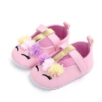 Wholesale eye ties for sale - Group buy Newborn Baby Girls Soft PU Crib Shoes Smiling eyes Cute Floral Anti slip T tied Walking Flat Shoes