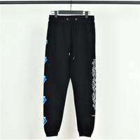 blaue jeansfüße großhandel-Hollywoods berühmte Luxus Herren Jogginghose Chromes Herzen Designer Jeans Blaue große Zunge mit Samthose Beam Fuß lässige Paar Hose