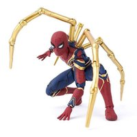 ingrosso figure di film di uomo di ragno-16CM Movie Avengers 4 Infinity War SHF Iron Spider Man Action Figure Cartoon PVC mobile Figure Toy Model Doll for Kids Birthday Gif C31