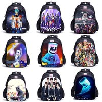 Wholesale designer backpacks for for sale - Group buy School Bag DJ Marshmello BTS designer backpack for Kids Boy Girls Female Backpack Printing schoolbag School Supplies Casual Mask DJ Satchel