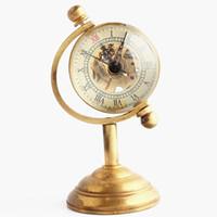 messingzahlen großhandel-Antike Glaskugel Messing Globale Mechanische Taschenuhr Römische Zahl Zifferblatt Taschenuhr