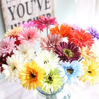 gerbera süsleme toptan satış-Yapay Gerbera Çiçek Ipek Krizantem Yapay Gerbera DIY Güneş Çiçek Sahte Çiçek Düğün Ev Partisi Dekorasyon
