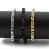 ingrosso strass diamante cz-Braccialetti a catena di Bling da 7-9 pollici di Clear CZ Diamond Clear CZ