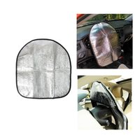 Wholesale auto sun car for sale - Group buy Universal Car Steering Wheel Sunshade Cover Protector Auto Sun Reflective Shade Anti Hot Automotive Accessories