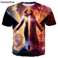 3d película x al por mayor-Nueva marca NUEVA Película popular X-Men: Dark Phoenix Impresión en 3D camiseta Camiseta casual de verano tops A-007