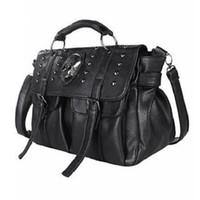 ingrosso cranio grande sacchetto-Borsa a tracolla Lady Fashion Bag Designer Punk Skull Rivet Bags Borsa a tracolla per donna