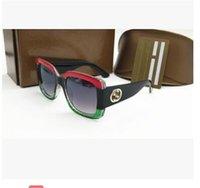 ingrosso grandi occhiali quadrati-New italy brand 3mix colore fashion show style grande quadrato ape 0086 occhiali da sole da donna classico ombra guida occhiali da vista