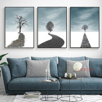 grandes pinturas quadro da arte abstracta venda por atacado-Imprimir paisagem Photo Abstract Tree Canvas Poster grandes pinturas Wall Art Imagem No Frame Nordic Living Room Home Decor Modern