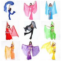Wholesale Belly Dance Scarf Hand Scarfs for dance Chiffon Scarf Throwing Yarn Scarf Shawls Veils Festive Party Supplies x120cm