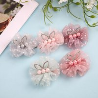 7c8cc4a6a2e65 Baby Girls Barrette Kids Cute Dots Net Yarn Rhinestone Crown Bunny Ear Barrettes  Children Hairpins Hair Clip Hair Accessory A279