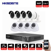 система 8ch cctv оптовых-HKIXDISTE 960P наружного наблюдения камеры безопасности системы 8-канального видеонаблюдения 1080P DVR комплект 8CH CCTV камеры ночного видения