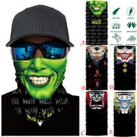 ingrosso ciclismo sciarpa viso-3D Ciclismo Moto collo Ski Tube Sciarpa Maschera Balaclava Halloween Party Maschera gioco tattico Smog # 15