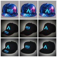 güneş gece ışığı toptan satış-Apex legends oyunu kapaklar Aydınlık yaz örgü ışık gece açık beyzbol şapkası hip hop şapka popüler güneş şapka adam kadın AAA1923