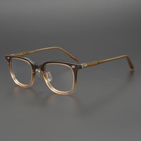 reçeteli nerd gözlük toptan satış-Acetate Glasses Frame Men Square Prescription Eyeglasses 2019 New Women Male Nerd Myopia Optical Frames Tortoise Spectacles Eyewear