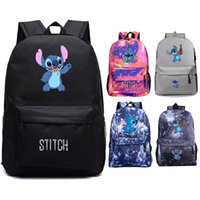 Anime Stitch backpack Boys Girls Schoolbag USB charging Port travel bag Mochila