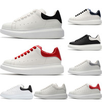 Wholesale girl casual lace shoes for sale - Group buy 2019 Mens Designer shoes white leather casual for girl women men black gold red fashion comfortable flat sports sneakers size