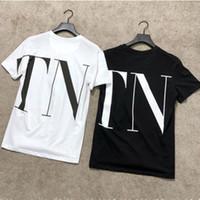 roupas de maçã preta venda por atacado-Designer de T Camisa Das Mulheres Carta Impresso Manga Curta Tee para o Verão Preto Branco Respirável Marca Tshirts Tamanho S-XL