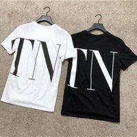 marka tasarımcısı tişörtleri toptan satış-Tasarımcı Bayan T Gömlek Mektup Baskılı Kısa Kollu Tee Yaz Siyah Beyaz Nefes Marka Tişörtleri için Boyutu S-XL